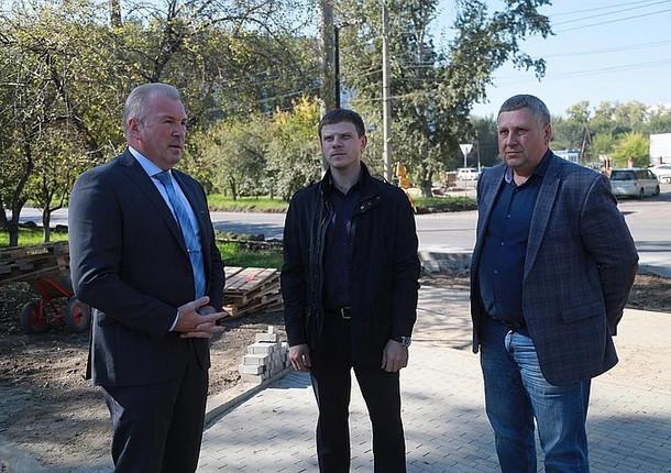 В Красноярске на улице Тельмана идет масштабный ремонт