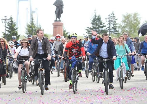 В Красноярске прошел велопарад